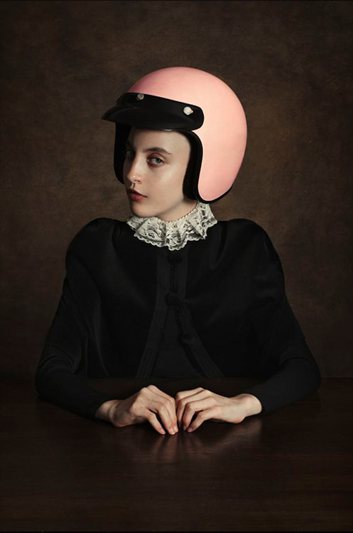 Romina Ressia, art, photography, HOFA gallery, Da Vinci, Rembrant, Flemish Realism, portraits, painting, fine art